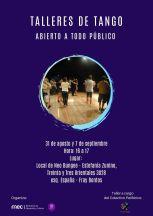 afiche Taller de Danza - Tango